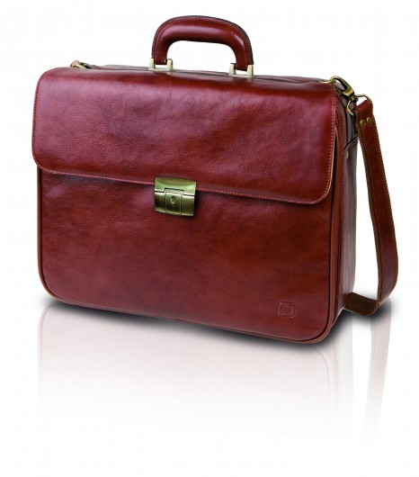 Elite Doctors Bag - Brown Leather